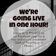 We go online in ONE hour! Go Online, Investing, Miami, Tours, Usa, Modern Design, Condo, U.s. States