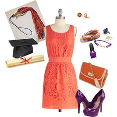 """""""Clemson Gameday Look - Graduate Glam"""" by clemson-girl on Polyvore"""