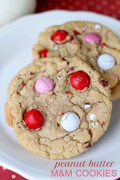 Soft Peanut Butter M&M Cookies recipe