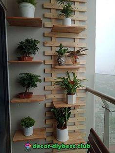 3 Simple and Inspiring Patio Decoration - Decor Small Balcony Decor, Small Balcony Garden, Indoor Garden, House Plants Decor, Plant Decor, Balkon Design, Plant Shelves, Plant Wall, Backyard Landscaping