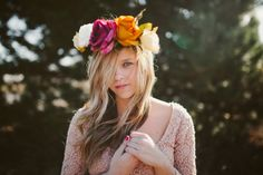 do a shoot in light with flowers and beauty