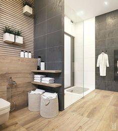 Modern bathroom design 226165212521288179 - An Organic Modern Home With Subtle Industrial Undertones Source by Dark Gray Bathroom, Grey Bathroom Tiles, Bathroom Renos, Grey Bathrooms, Beautiful Bathrooms, Bathroom Interior, Small Bathroom, Master Bathroom, Bathroom Ideas