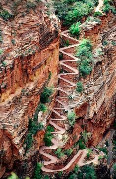 Walter's Wiggles - Zion National Park UTAH. I actually went to this place, hiking with Chris and LJo.
