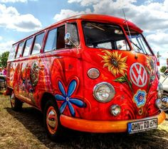 VW Van. Hippie Style. Love❤