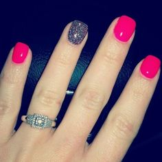 Short gel nail designs luxury 50 stunning manicure ideas for short nails with gel polish that Cute Pink Nails, Love Nails, Bright Pink Nails, Style Nails, Colorful Nails, Gel Nagel Design, Pink Nail Designs, Nails Design, Pedicure Designs