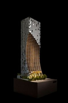 Alberni   Residential Tower by Kengo Kuma and Associates  image © kengo kuma and associates  #Vancouver  #maquette