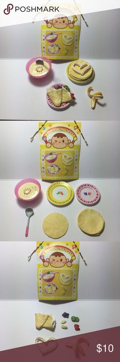 🥞 Breakfast Fruit Crepe Cooking Mini Set 🥞 Japanese Miniature Collectibles.   The set is complete/not missing any pieces. In excellent condition. These were never played with, only displayed in a glass case.   Great for display, putting in your planters, accessories for dolls, etc.  Tags: kawaii, japanese, rement, re-ment, miniatures, fairy garden, planter, anime, food, cute, blind box Accessories