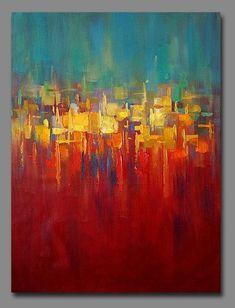 "40""x30"" Contemporary Original Handmade Abstract art Oil Paintings on canvas: #abstractart #OilPaintingOleo"
