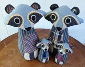 Raccoon Family of Four - Customizable Family Gift for Mom