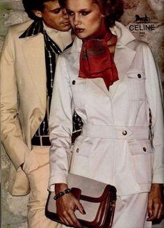Writer in the East Village. Find work in: 1977 Fashion, 70s Vintage Fashion, Seventies Fashion, Fashion Cover, Vintage Outfits, Vintage Bag, Women's Fashion, Celine, Fashion Brands
