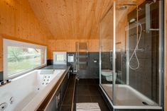 Rainshower and Jacuzzi bathtub with a view of the slopes Jacuzzi Bathtub, Bathroom, Home, Jacuzzi Tub, Washroom, Jetted Tub, Full Bath, Ad Home, Homes