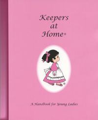 What a great Home Economics Curriculum for little girls!! You can order this at http://www.keepersofthefaith.com/product/KeepersAtHomeIndex/KeepersatHomeHandbook.html