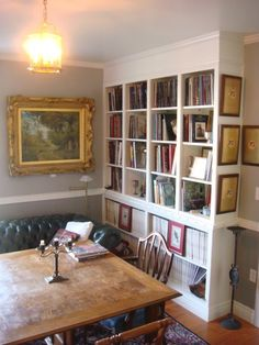 of course you should have books in a dining room...