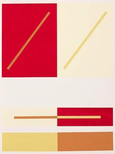 josef Albers red and gold
