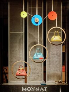 >>>Cheap Sale OFF! >>>Visit>> MOYNAT Paris France What goes up must come down pinned by Ton van der Veer Fashion Window Display, Window Display Retail, Window Display Design, Retail Displays, Handbag Display, Shoe Display, Display Ideas, Visual Merchandising Displays, Visual Display