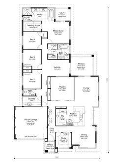 Best House Plans, Dream House Plans, House Floor Plans, House Layout Plans, House Layouts, Australian House Plans, Narrow House Designs, Warehouse Home, Plans Architecture