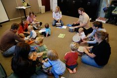 Music and rhythm class for moms and tots