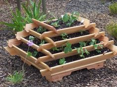 Pyramid Planter Herb Garden Strawberry Planter Vertical Planter This Is Awesome For A Small