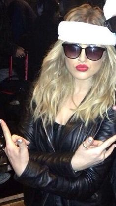 Perrie Edwards being the thug she is>>>Gurl, she is rockin' those shades.