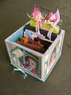 Paper Jewels and other Crafty Gems: CD Photo Cube (Tutorial)