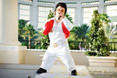 midget elvis | Mighty Mike performing as Mini-Elvis at the Mandalay Hotel in Las ...