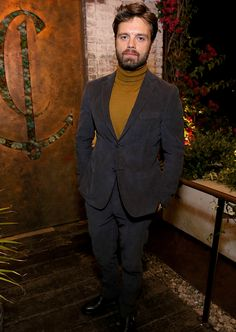 Sebastian Stan attends the HFPA's and InStyle's Celebration of the 2018 Golden Globe Awards Season and the Unveiling of the Golden Globe Ambassador at Catch on November 15, 2017 in West Hollywood, California.