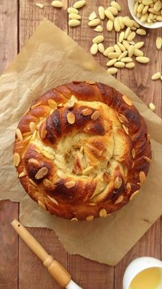 Almond and vanilla twisted bread wreath/coffee cake - recipe
