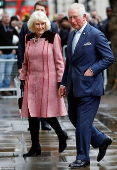 Britain's Prince Charles and Camilla, Duchess of Cornwall visit the Cabinet Office in London - Buy this stock photo and explore similar images at Adobe Stock Prince Charles And Camilla, Prince Phillip, Prince Harry And Meghan, Casual Maternity, Maternity Fashion, Duchess Of Cornwall, Duchess Of Cambridge, King Tom, Prince Of Wales