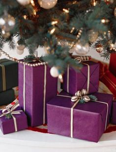 Color-Coded Gift Wrap...wrap each family member's presents in a different color gift wrap to take the guesswork out of which present is for whom!