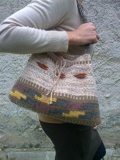 Weaving - Szőttes válltáska - Weaved bag - Zentai Anna - www.zentaianna.hu