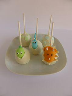Cakepops para festa de aniversário com tema Dinossauros (organizado pela Lima Limão)