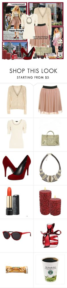 Blake Lively : Street Fashion ! by fantasy-rose on Polyvore featuring moda, Oasis, Miss Selfridge, Stuart Weitzman, Balenciaga, Monsoon, Lancôme, Nina Ricci, Sonoma life + style and xO Design