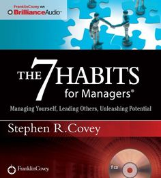 The 7 Habits for Managers Managing Yourself  Audiobook, CD  by Stephen R. Covey