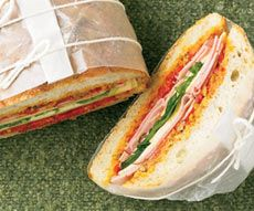 Muffuletta Sandwich Muffuletta Sandwich, Paninis, Soup And Sandwich, School Lunches, Lunch Ideas, Sandwiches, Tacos, Lunch Box, Food And Drink