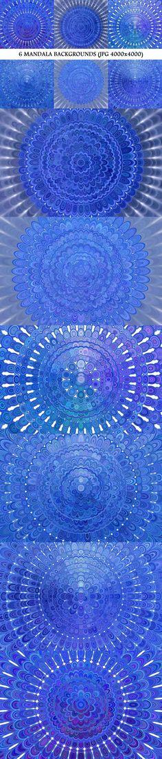 6 Blue Floral Mandala Backgrounds #DavidZydd #bluegraphic #BackgroundDesign #GeometricBackground #zydd #BackgroundGraphic #BackgroundBundles #BackgroundBundle #geometric #shade #PremiumBackground #backdrop #blueflower #DiscountBackgrounds #BackgroundCollections #GeometricDesign #PremiumVector #spiral #BackgroundGraphics