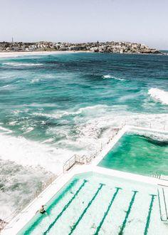 How to Visit the Bondi Icebergs, Australia Bondi Icebergs, Travel Goals, Travel Tips, Girls Getaway, Bondi Beach, Australia Travel, Solo Travel, Summer Vibes, Surfing