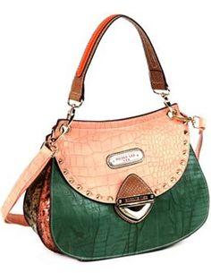 Nicole Lee Mallory Mix Match Colorblock Convertible Shoulder Bag