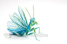 Praying mantis, 3D paper quilling by Inna's Creations, via Flickr