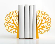 Minimalistic bookends  Summer  yellow tree by DesignAtelierArticle, $54.31