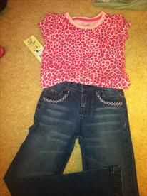 Girls Sz 6-6X tee and Jeans- NWT  Price: $7.00