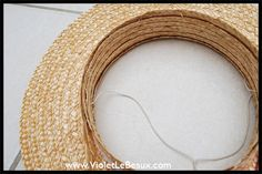 How To Make A Straw Boater Hat - Diy Cancan Hat Tutorial ^_^ - Violet LeBeaux - Free Cute Craft and Beauty Tutorials - this is pretty straight forward...