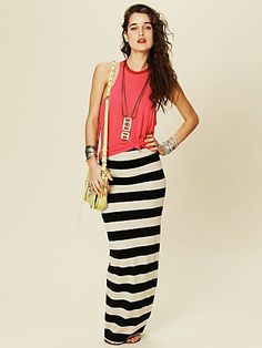 Rugby Stripe Column Skirt  http://www.freepeople.com/whats-new/rugby-stripe-column-skirt-24672503/