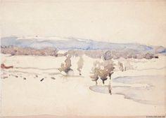 Venny Soldan-Brofeldt (Finnish, 1863 - 1945): Late winter landscape