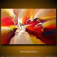 Large abstract painting by Dan Bunea Approaching that by danbunea