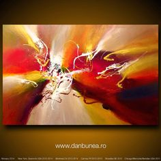 Large abstract painting by Dan Bunea Approaching that by danbunea