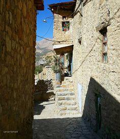 Cozy Kurdish Village of Uraman Takht in Kurdistan, Iran.