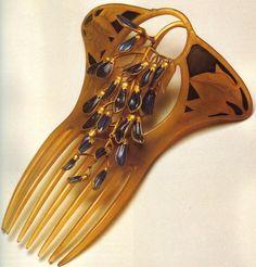 Vintage Art Nouvea Hair Comb by René Lalique