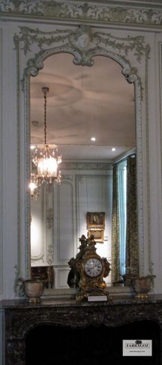 Trumeau Mirror at Musée Carnavalet, Paris. Make your own ~ FARRAGOZ  Online Course in the Art of Patina. http://farragoz.blogspot.com/
