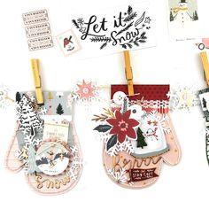 Snowflake Mittens Banner – Crate Paper Retro Christmas, Christmas Tag, Christmas Crafts, Christmas Stuff, Crate Paper, Studio Calico, Scrapbooking Layouts, Scrapbook Paper, Scrapbook Journal