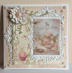 3d Cards, Paper Cards, Handmade Greetings, Greeting Cards Handmade, Shabby Chic Cards, Anna Griffin Cards, Beautiful Handmade Cards, Marianne Design, Pretty Cards